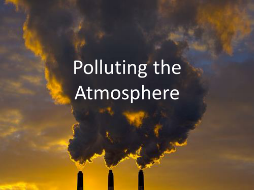 Polluting the atmosphere