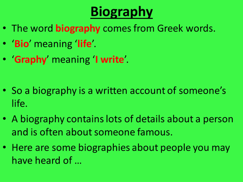 500 word biography