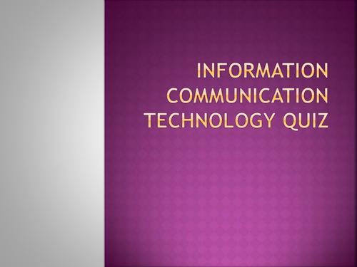 ICT Key Stage Three Quiz