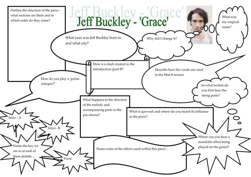 Jeff Buckley Fact Finder Sheet
