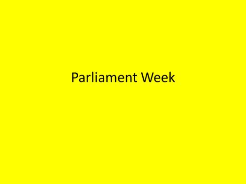 Parliament Week Assembly