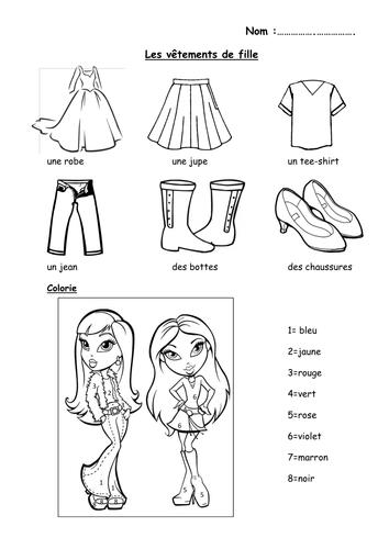 Worksheet About Clothes For Kindergarten