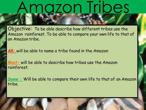 Rainforest Theme Classroom Ideas ~ Tribes in the amazon by amyhammonds teaching resources tes