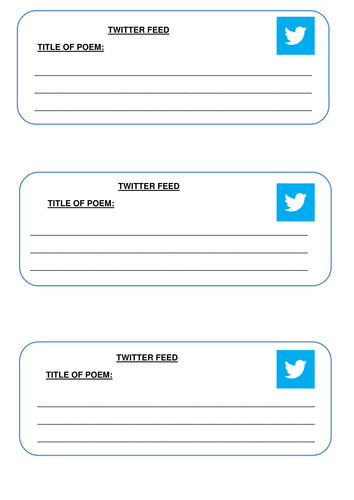 Twitter Feed by Caraj118 - Teaching Resources - Tes