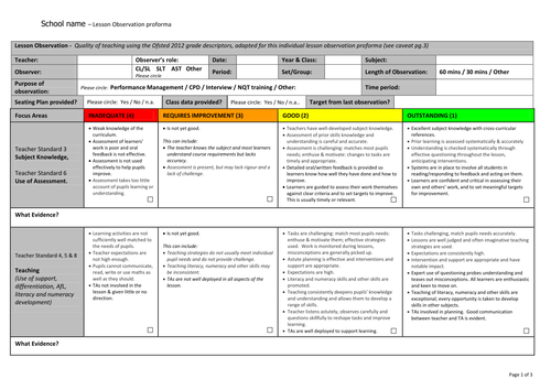 Observation form by teachertoolkit by rmcgill teaching resources observation form by teachertoolkit by rmcgill teaching resources tes maxwellsz