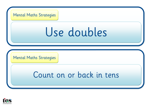 Maths Strategy Cards by tesSpecialNeeds - Teaching Resources - Tes