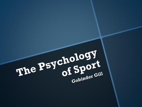 The Psychology of Sport