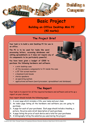 Computer Hardware - Building a Computer