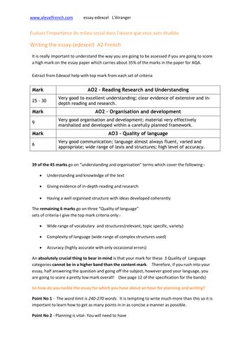 l etranger résumé by natjohnston teaching resources tes