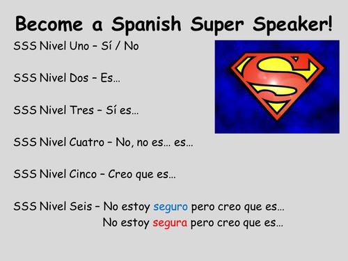 Spanish Super Speaker - Speaking Mat