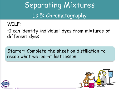 Resources for Separating Mixtures SOW by seasquirt Teaching – Separating Mixtures Worksheet