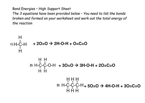 Bond Energy Tutorial and Practice Calculations by beccykg – Energy Calculations Worksheet