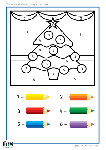 Colouring By Number Ks1 : Colour by Numbers TEACCH Activities Christmas! by tesAutism Teaching Resources Tes