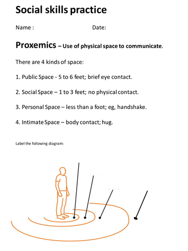 Social Skills - Proxemics by lukeswillage - Teaching Resources - Tes