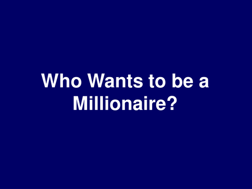 The River Thames- Who Wants To Be A Millionaire