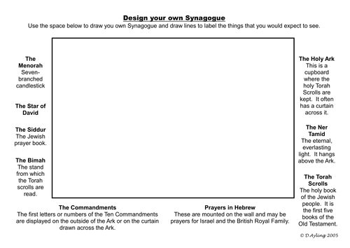 The Synagogue Powerpoint And Worksheet By Dazayling Teaching