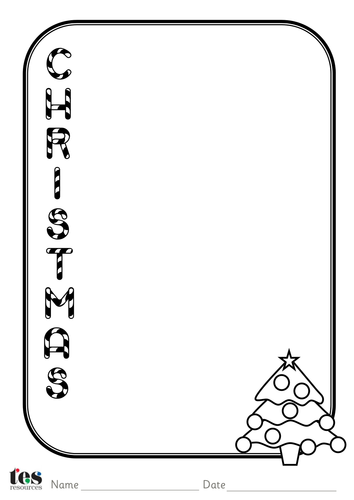 Christmas Acrostic Poem templates by tesSpecialNeeds
