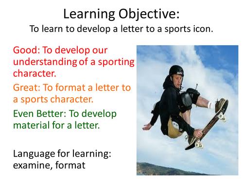 English Entry Level, Leisure (Letter Writing)