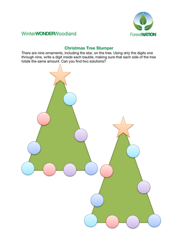 Christmas Tree numbers game by ForestNation - Teaching Resources - Tes