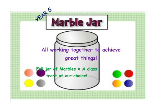 Classroom Marble Jar Ideas ~ Marble jar poster by missehill teaching resources tes