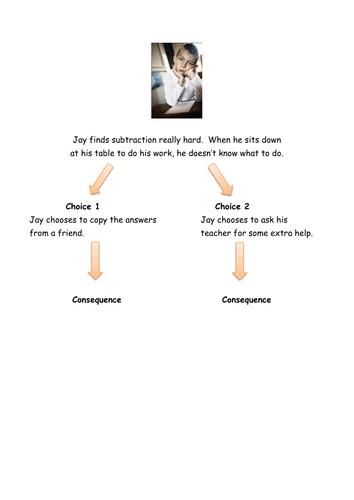 Choices and consequences scenario cards