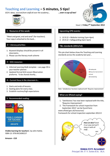 Teaching Learning Newsletter Template By Teachertoolkit By