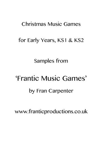 Christmas music games for EYFS, KS1 & KS2