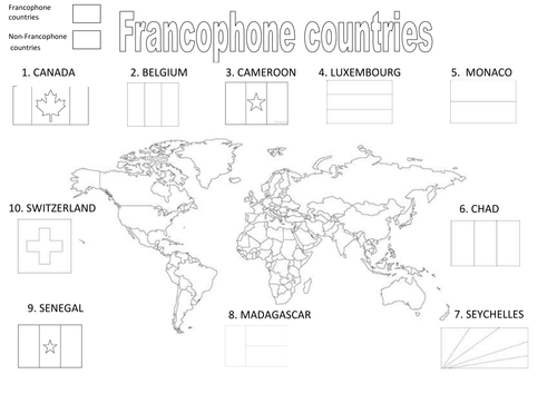 Francophone Countries By Becobbold Teaching Resources Tes