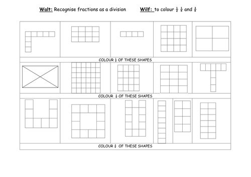 How many ways can you make a halfquarterthird by claire – Pattern Block Fractions Worksheet