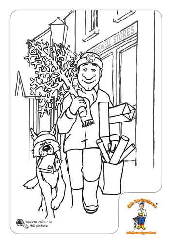 Colin the Coastguard's NMMC Colouring Pictures by