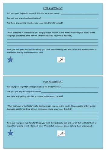 Biography peer assessment
