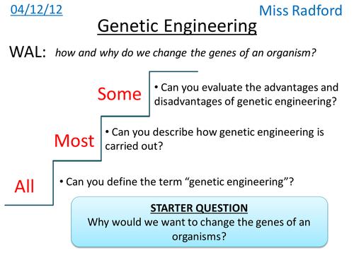 B12 Genetic Engineering AQA Core science by hannahradford – Genetic Engineering Worksheet