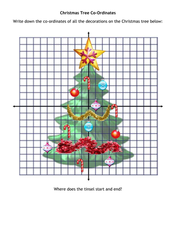 Christmas Tree Co Ordinates By Alutwyche Teaching Resources