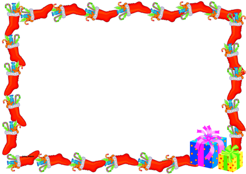 Christmas Themed Lined Paper And Pageborders By Jinkydabon