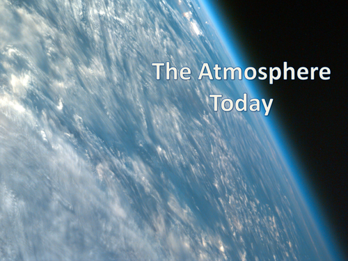 C1.4 - The Atmosphere Today