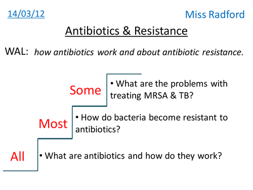 16 2 & 16 3 Antibiotics & Antibiotic resistance
