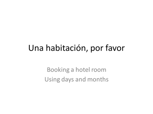 Booking into a hotel