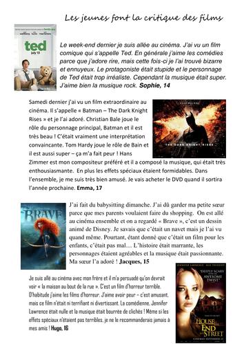 film reviews  helenaisling teaching resources