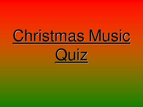 Music Christmas Quiz