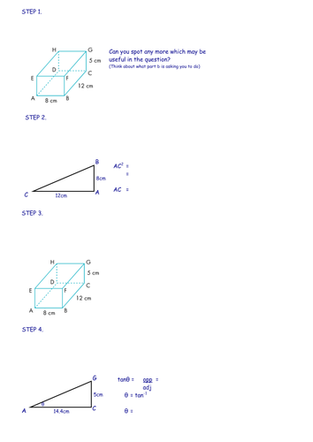3d Trigonometry Lesson By Ultraamoeba Teaching Resources Tes