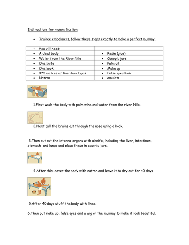 writing instructions year 3