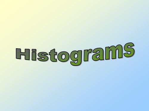 Histograms Lessons