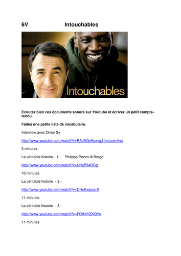 Intouchables interview and documentary