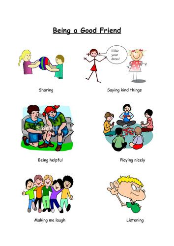 Being A Good Friend By Mrsbourdon Teaching Resources Tes