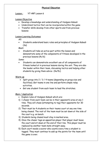 Year 7 Health Related Fitness By Pegan1 Teaching Resources Tes