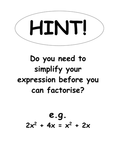 Factorising Quadratic Expressions Lesson by UltraAmoeba