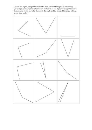 Year 6 revision - angles and missing angles lines by ...