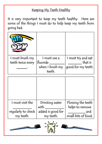 Keeping Teeth Healthy Worksheet by dazayling - Teaching Resources ...