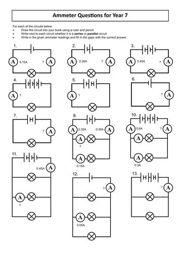 Worksheets Circuit Worksheets resources for ks3 electricity unit by dazayling teaching tes