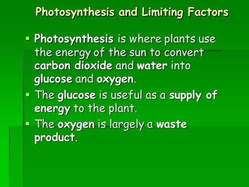 Photosynthesis limiting factors ppt by raj.nandhra - Teaching ...